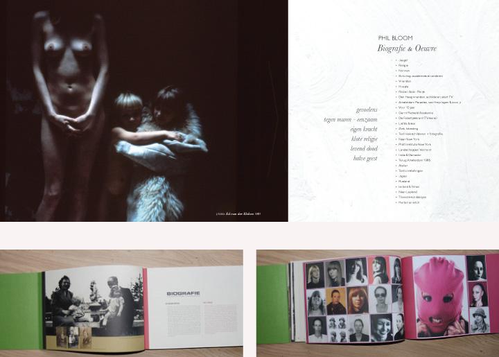 Boekontwerp (opening 1e Hoofdstuk) kunstenares Phil Bloom - Biografie & Oeuvre