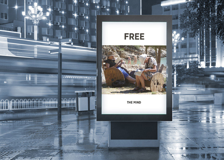 Concept/ontwerp & fotografie: affiche 'Free the Mind'