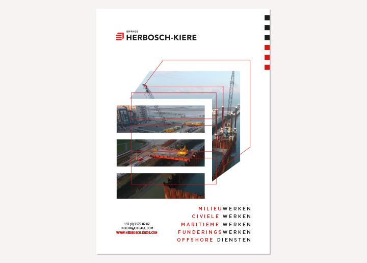 Ontwerp voorstel advertentie Herbosch-Kiere (mogelijk affiche) met foto verwerkt in vergroot logo contour 02